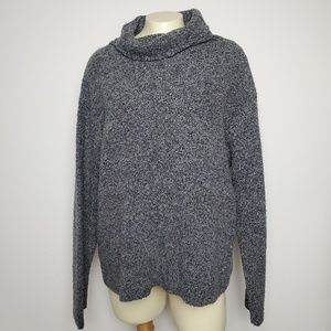 EILEEN FISHER GRAY COWL NECK SWEATER 1X